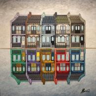 'Terrace Mirror' Acrylic on Canvas, 2015