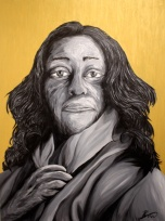 'Zaha Hadid' Acrylic on Canvas, 2015