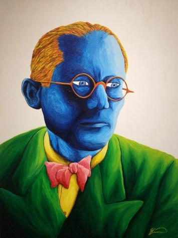 'Le Corbusier' Acrylic on Canvas, 2014